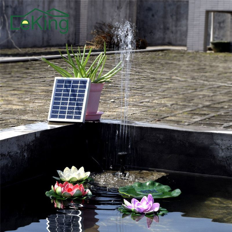 Solar Powered Water Pump Fountain Polycrystalline Silicon Solar Brushless Water Cycle Pond For Garden Decoration
