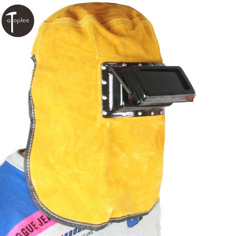1PCS Cool Air Summer Welder Eyes Mask Cow Leather Welding Helmet Comfortable Hood Helmet Install Filter Lens Glasses