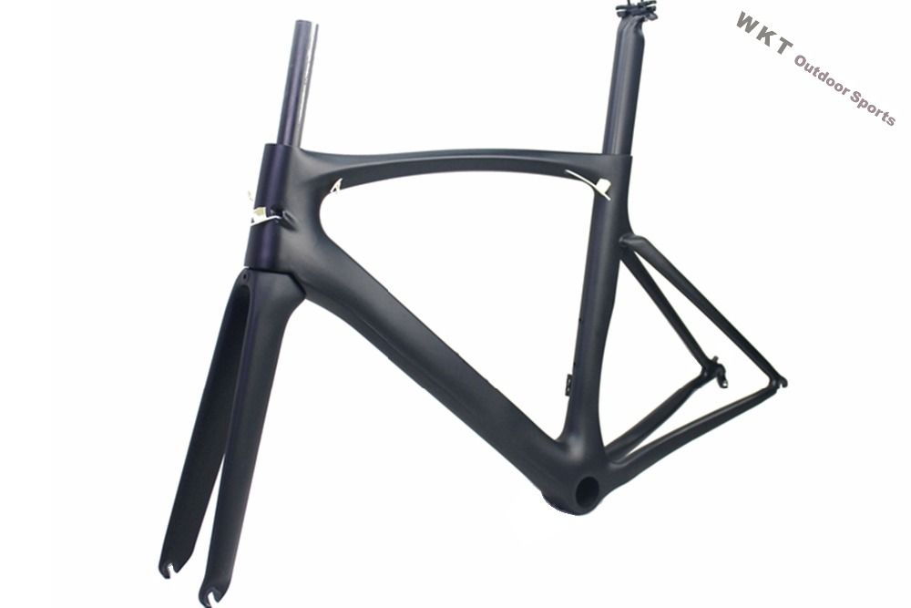 2018 full carbon fiber road bicycle frame matte Race bike new color road bike frameset carbon wheel 700C headset fork