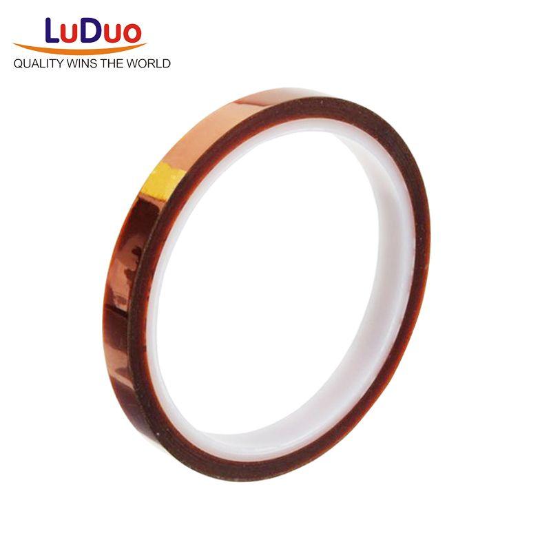 Luduo 33 mt Heat Resistant Polyimid Thermische Hohe Temperatur Klebstoff Seite Klebeband für BGA Überarbeitet oder Elektronische Industrie