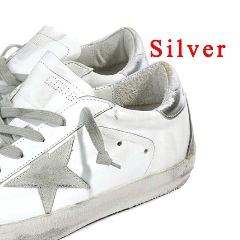 BBK 2017 Superstar ganso niños casuales Zapatos calzado estrella Respirar 100% men & women de cuero genuino glitter zapatos planos Bajos hecho en fábrica