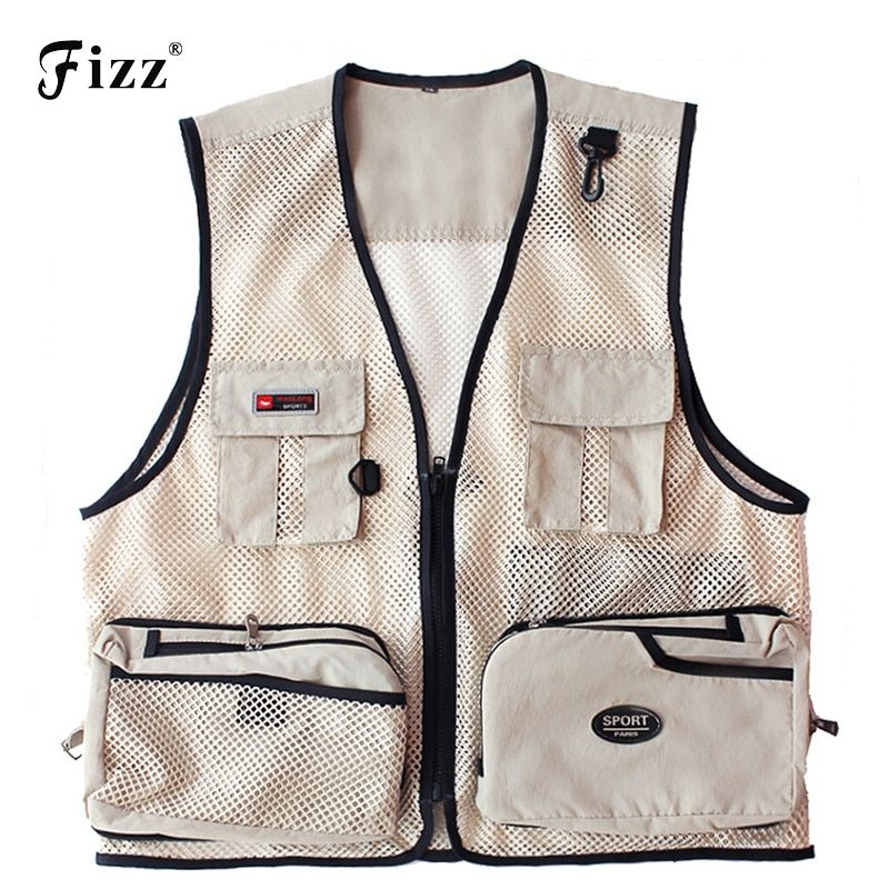 Summer Quick Dry Mesh Fishing Vest Men Women Multiple Pocket Photography Vest Outdoor Fishing Wear Tackle M - 4XL Dropshipping