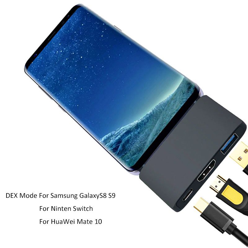 Dex Station Pad Docking Dock for Samsung Galaxy Note 8 S8 S9 S8+ S9+ Nintend Switch Huawei P20 Mate10 MacBook pro USB Type C HUB