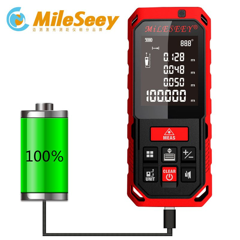S7/S2 50M 70M 100M 120M Rechargeable Laser Rangefinder New Laser Distance Meter Laser Measure Angle Tools Diastimeter Red
