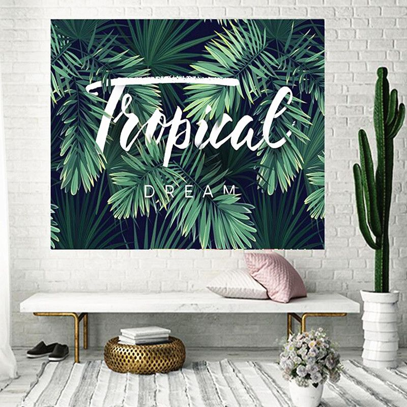 3D Printing <font><b>Plant</b></font> Series tapestry Water Absorbent Quick Dry Outdoor Travel Beach towel Free Shipping w3-11