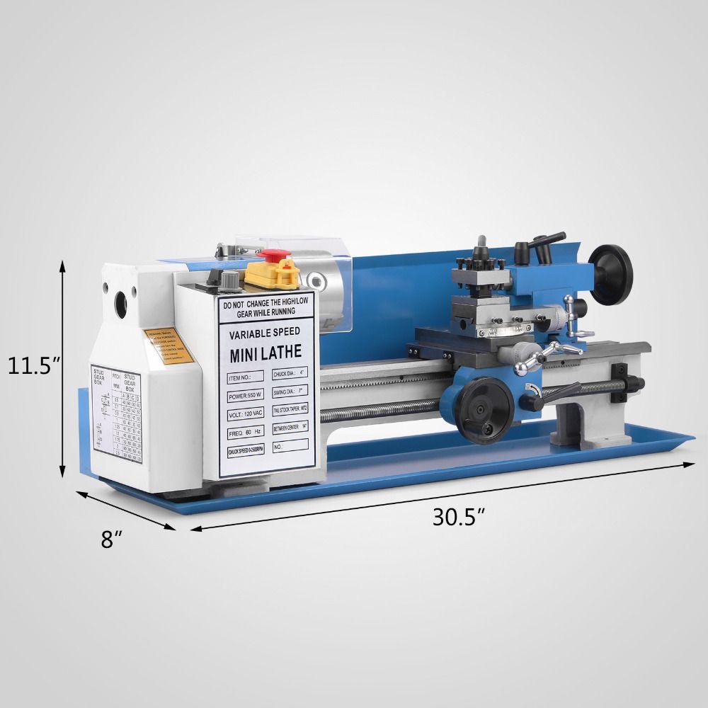 Mini high-Präzision DIY Shop Tisch Metall Drehmaschine Werkzeug Maschine Variabler Geschwindigkeit Fräsen Digital Display