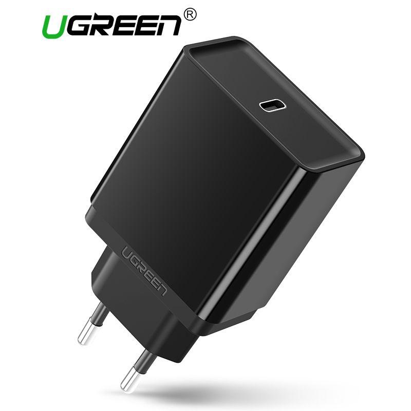 Ugreen USB C Chargeur 30 W Rapide Mobile Téléphone Chargeur PD Type C Chargeur pour Samsung GalaxyS8 pour Apple Macbook 12 pouces