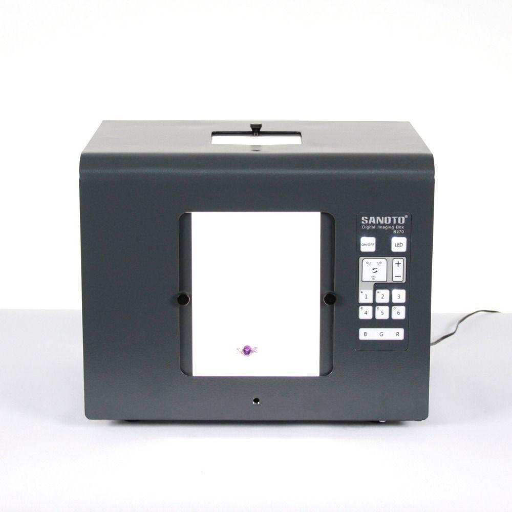 Freies Verschiffen SANOTO marke LED Mini Fotostudio Fotografie Licht Box Foto Box Softbox B430 Schmuck, diamanten beleuchtung boxen