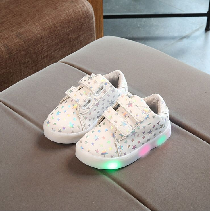 2017 New Autumn Fashion Children Shoes With Light Led Kids Shoes Luminous Glowing Sneakers Baby Toddler Boys Girls Shoes 21-30