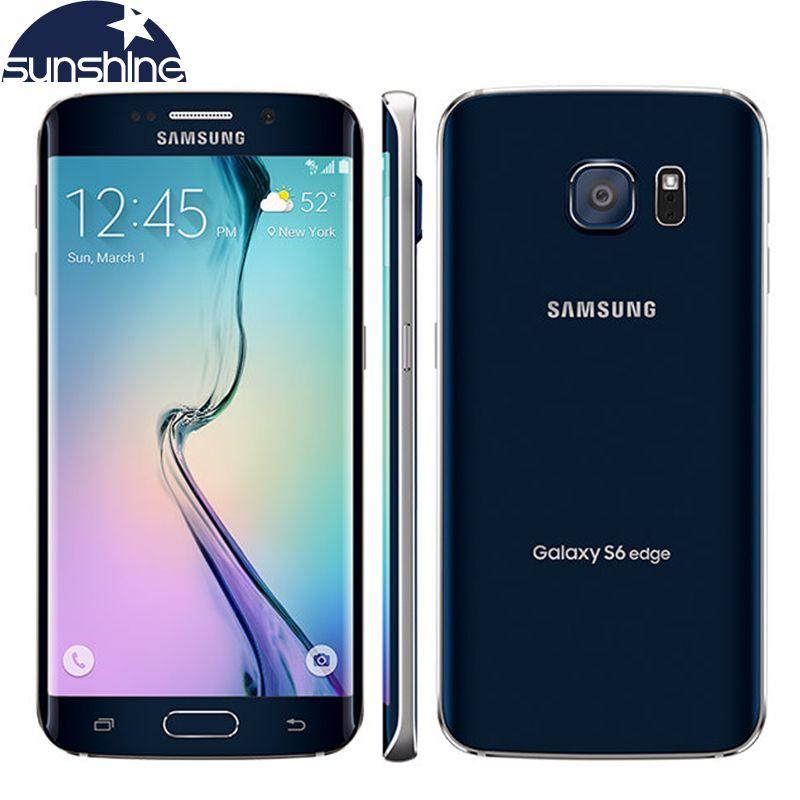 Original Unlocked Samsung Galaxy S6 Edge LTE Mobile Phone Octa Core 5.1
