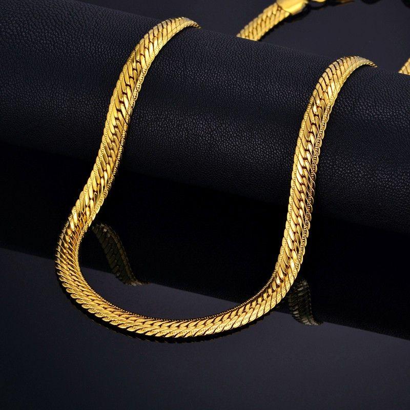 Mâle Hiphop Épaisse Chaîne En Or Lien Collier, Marque Serpent Or Chaînes Or-Couleur, hiphop Chaîne Hommes Bijoux En Gros