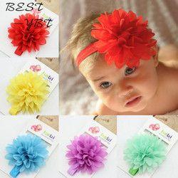 Vente chaude Bébé Fille Élastique Hairband Enfants Usage De Cheveux Pour Enfants Head Band Fleur Bandeau Bébé Accessoires Cheveux