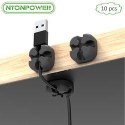 NTONPOWER CMS 10 stücke Weichen Silikon Kabel Wickler Desktop Draht Veranstalter Kopfhörer Kabel Halter Clip Maus Kabel Protector Management