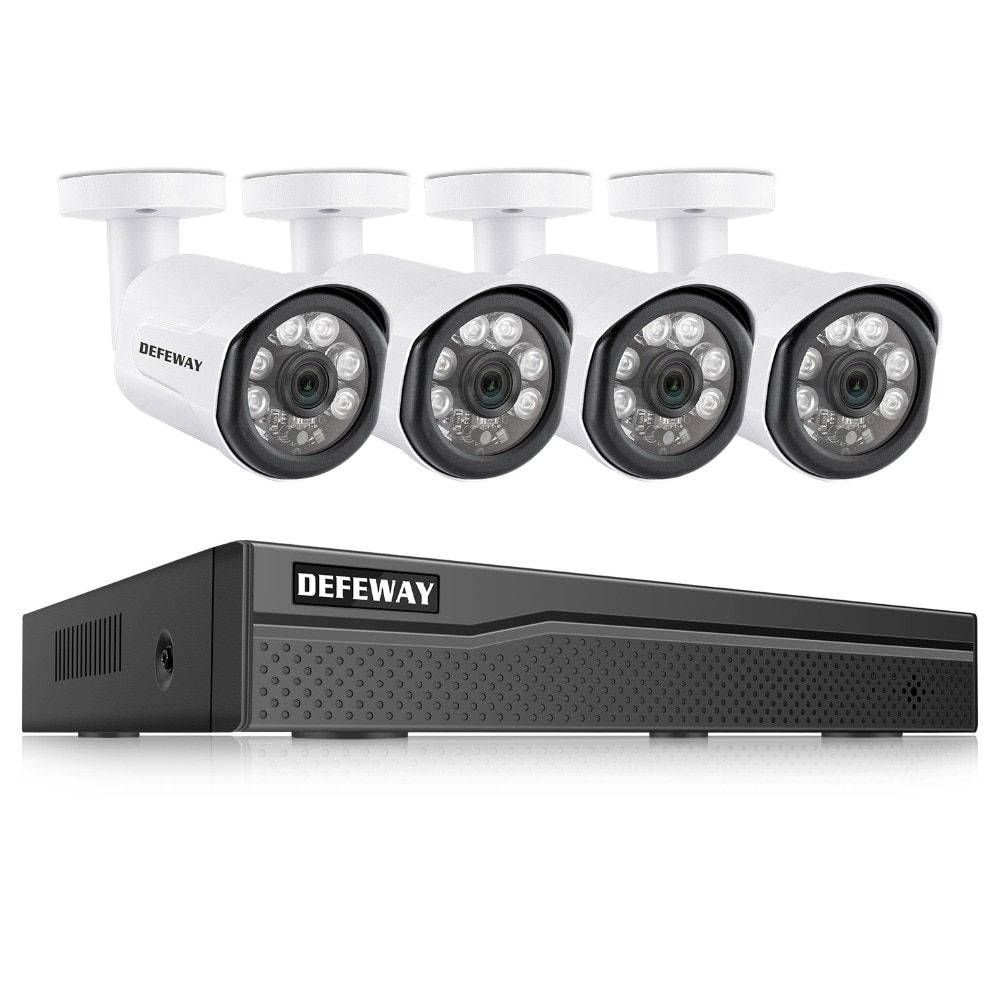 DEFEWAY POE Video Überwachung Kit 4 PCS 2.0MP IP Kamera 8CH 1080 P HD NVR Outdoor CCTV System Video Überwachung system Für Home