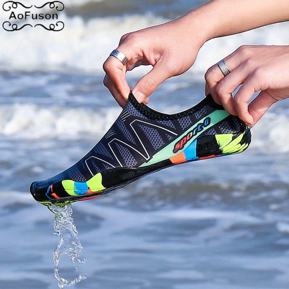 Unisexe eau Aqua chaussures été natation plage chaussures bord de mer Surf séchage rapide pantoufles en amont léger chaussures d'athlétisme chaussures de randonnée