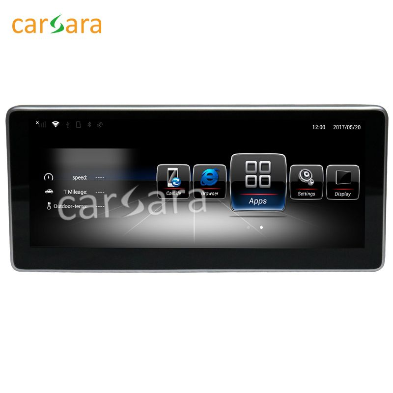 carsara 10.25 touch screen Android GPS Navigation radio stereo dash multimedia player for Benz C Class W205 GLC Class X253 201