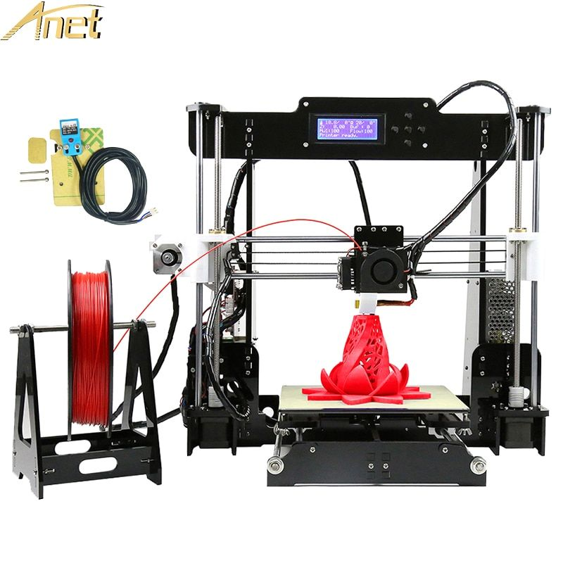 Update Anet A8 Auto level A6 Desktop 3D printer Reprap 3D Printer DIY Kit impressora 3d Auto leveling Sensor With 10m Filament