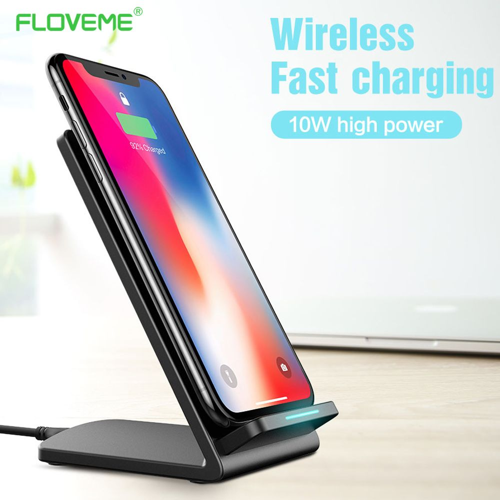 FLOVEME 5V 2A Qi Wireless Charger For Samsung Galaxy S8 Plus S7 Edge Fast Charging Charger For iPhone X iPhone 8 8 Plus Chargers