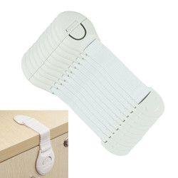 10 unids mucho la puerta de gabinete cajones nevera WC Seguridad plástico bloqueo para niño bebé Seguridad mesa de esquina