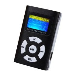 CARPRIE Mini MP3 Player LCD Screen Metal 3.5mm Jack Support 32GB Micro SD TF Card Supports USB 2.0/1.1 Li-ion battery
