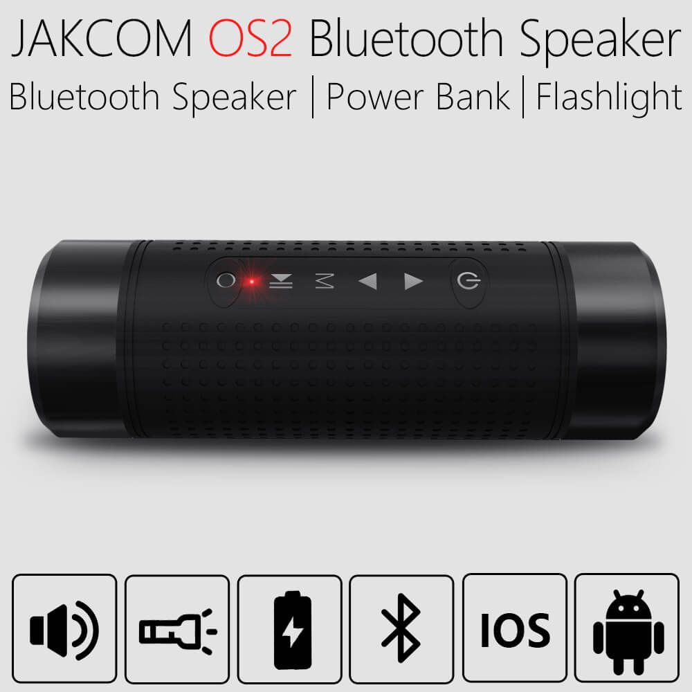 JAKCOM OS2 Portable wireless bluetooth speaker outdoor waterproof bicycle speaker with powerbank flashlight support TF AUX FM