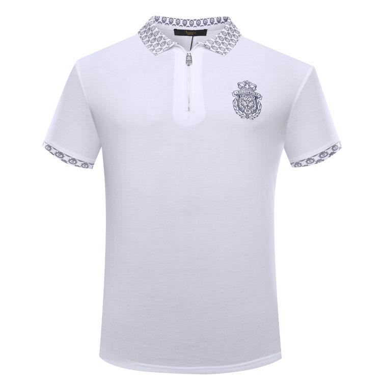 TACE & SHARK Billionaire t-shirt männer 2018 starten sommer komfort casual einfarbig gestickt gentleman M-3XL freies verschiffen