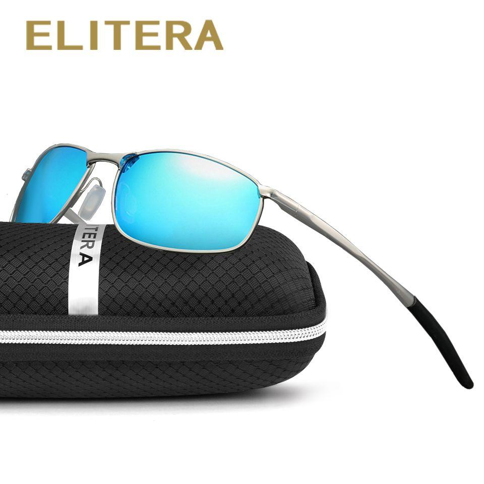 Elitera hommes lunettes de soleil polarisées classique hommes rétro vintage shades marque designer lunettes de soleil uv400