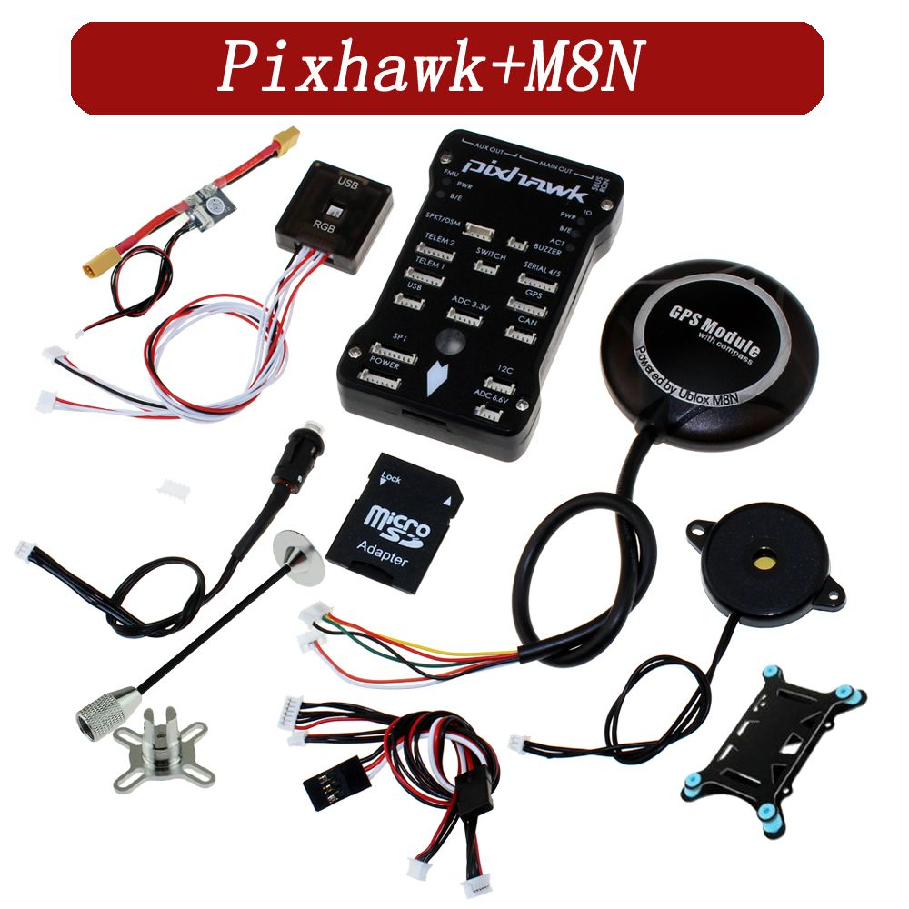 Pixhawk PIX PX4 2.4.8 Flight Controller M8N GPS Module with Built-in compass Micro SD Card adapter RC FPV