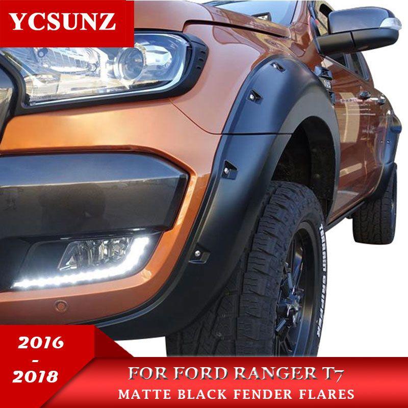 9 Inch Mit Mutter Rad Arch Fender Flare Für Ford Ranger Wildtrak T7 2016 2017 2018 Doppel Kabine