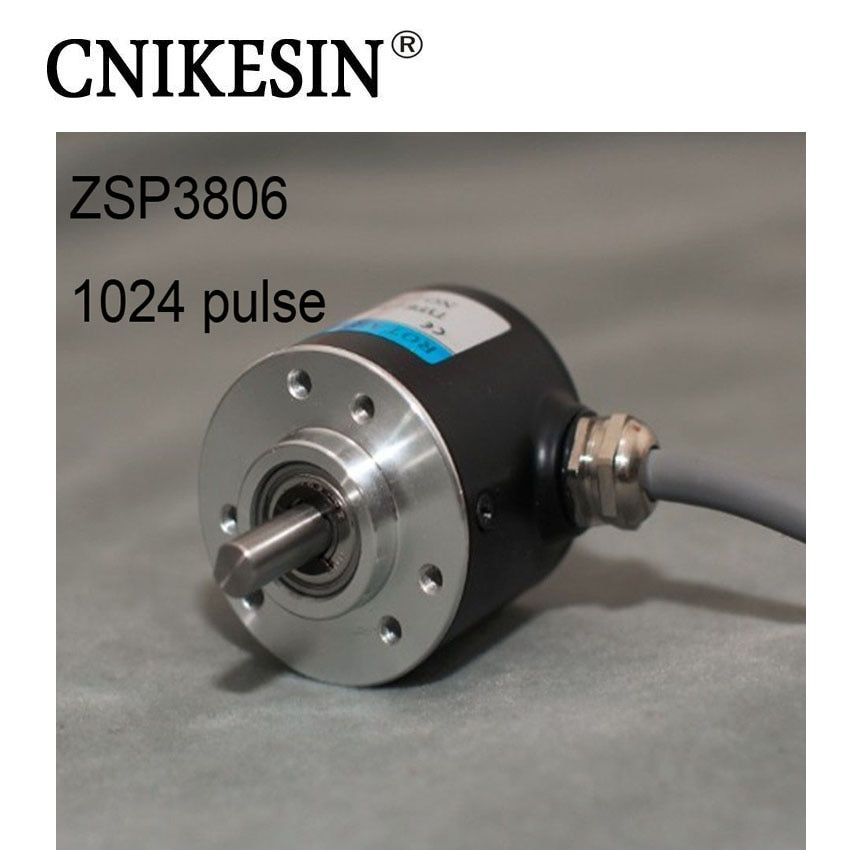 CNIKESIN Incremental Photoelectric Rotary Encoder ZSP3806 1024 Pulse 1024 Wire ABZ Three-phase 5-24V
