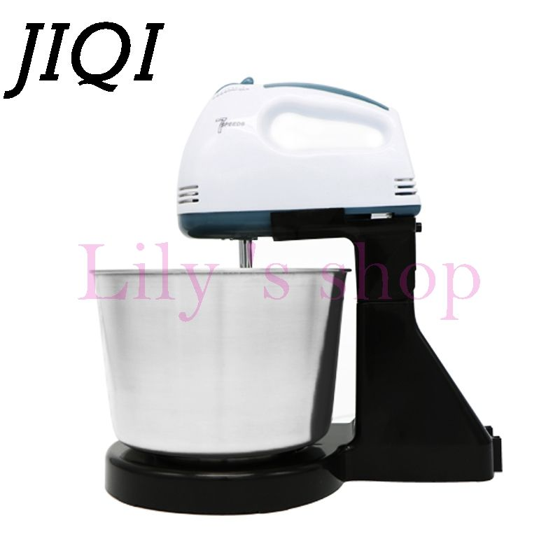 JIQI Table Electric Food Mixer mini desktop 7 Speeds Automatic Eggs Beater handheld butter Blender Baking Whipping cream Machine