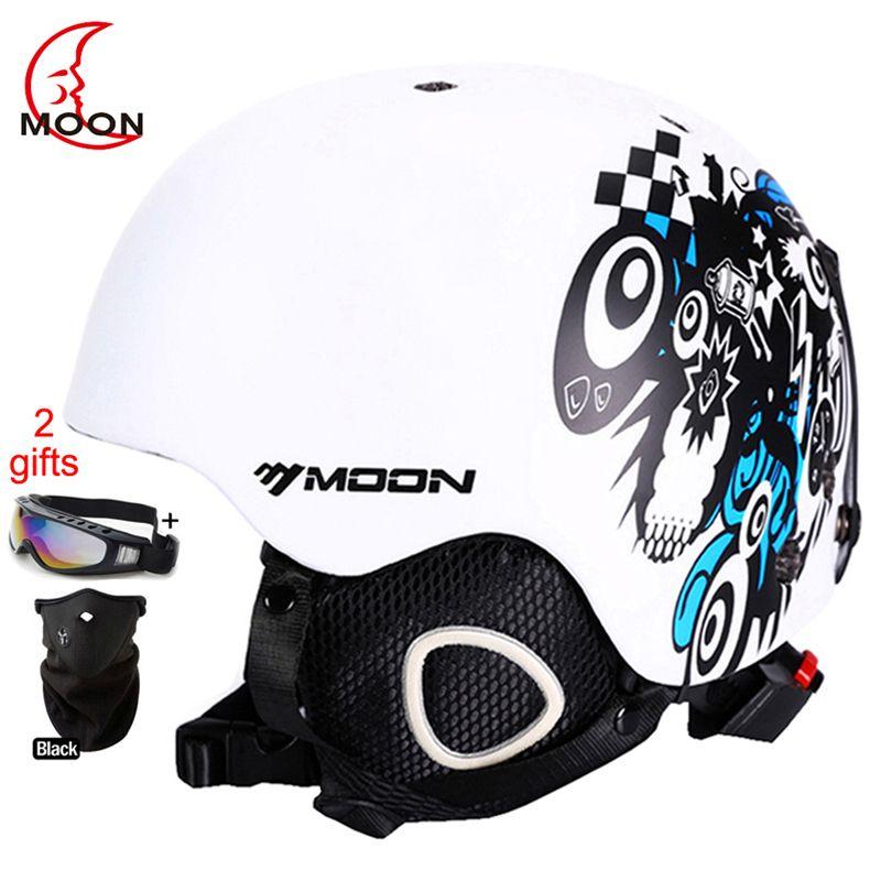 <font><b>MOON</b></font> Skateboard Ski Snowboard Helmet Integrally-molded Ultralight Breathable Ski Helmet CE Certification