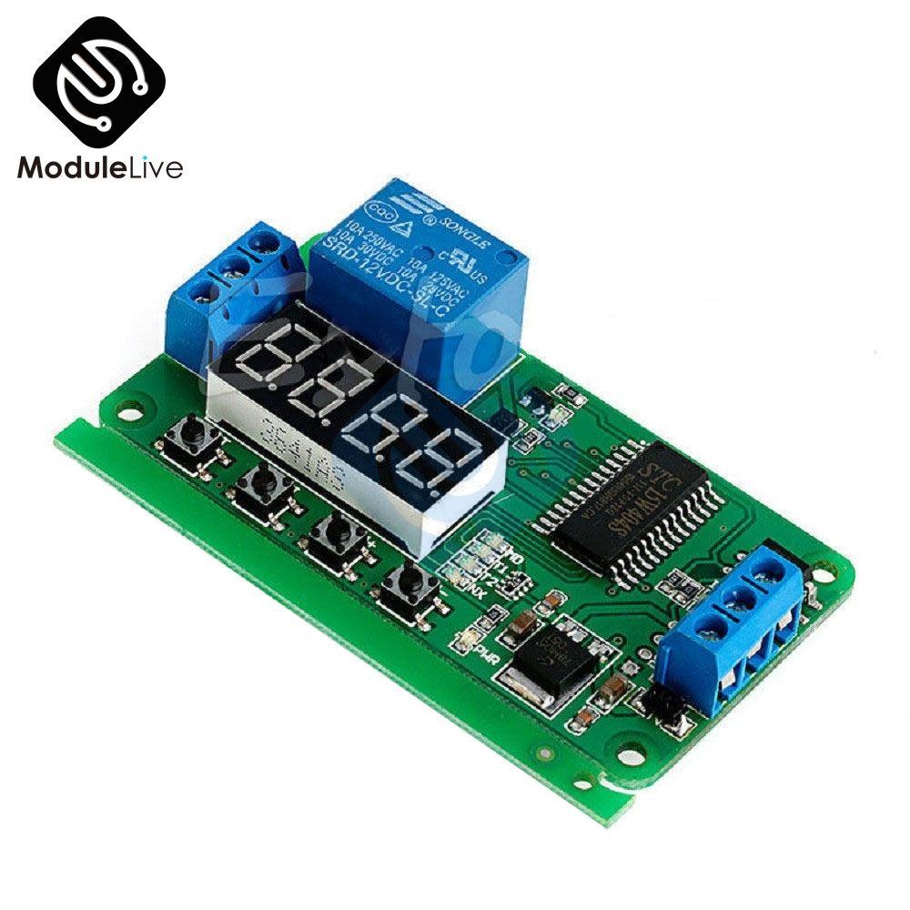 1 stücke DC 5 v 12 v 1 Kanal Multifunktions Selbst-lock Relais Timer Modul Verzögerung Zeit Schalter für PLC LED Motor für Smart Home
