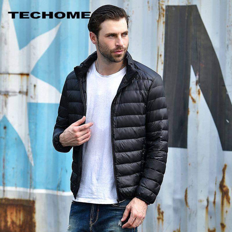 Новинка 2017 года Для мужчин зимняя куртка Для мужчин Ultra Light Белые куртки-пуховики Повседневное Портативный зимнее пальто для Для мужчин плюс...