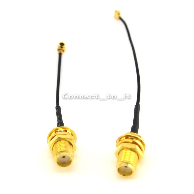 10 Pieces Extension Cord Didfferent Length Nut Bulkhead SMA Jack to Ufl./ipx Extension Connector Pigtail 1.13 Cable
