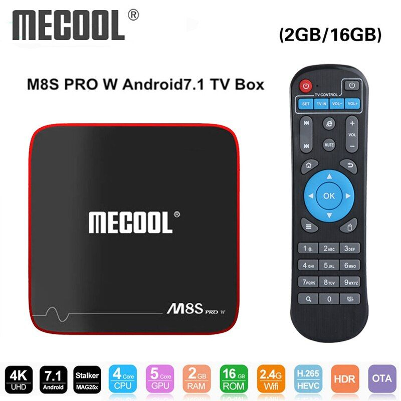 Mecool M8S PRO W boîtier de smart tv Android 7.1 Amlogic S905W 1 GB 8 GB 2 GB 16G Soutien MAG 250 stalker IP TV Box 2.4G WiFi PK x96 mini