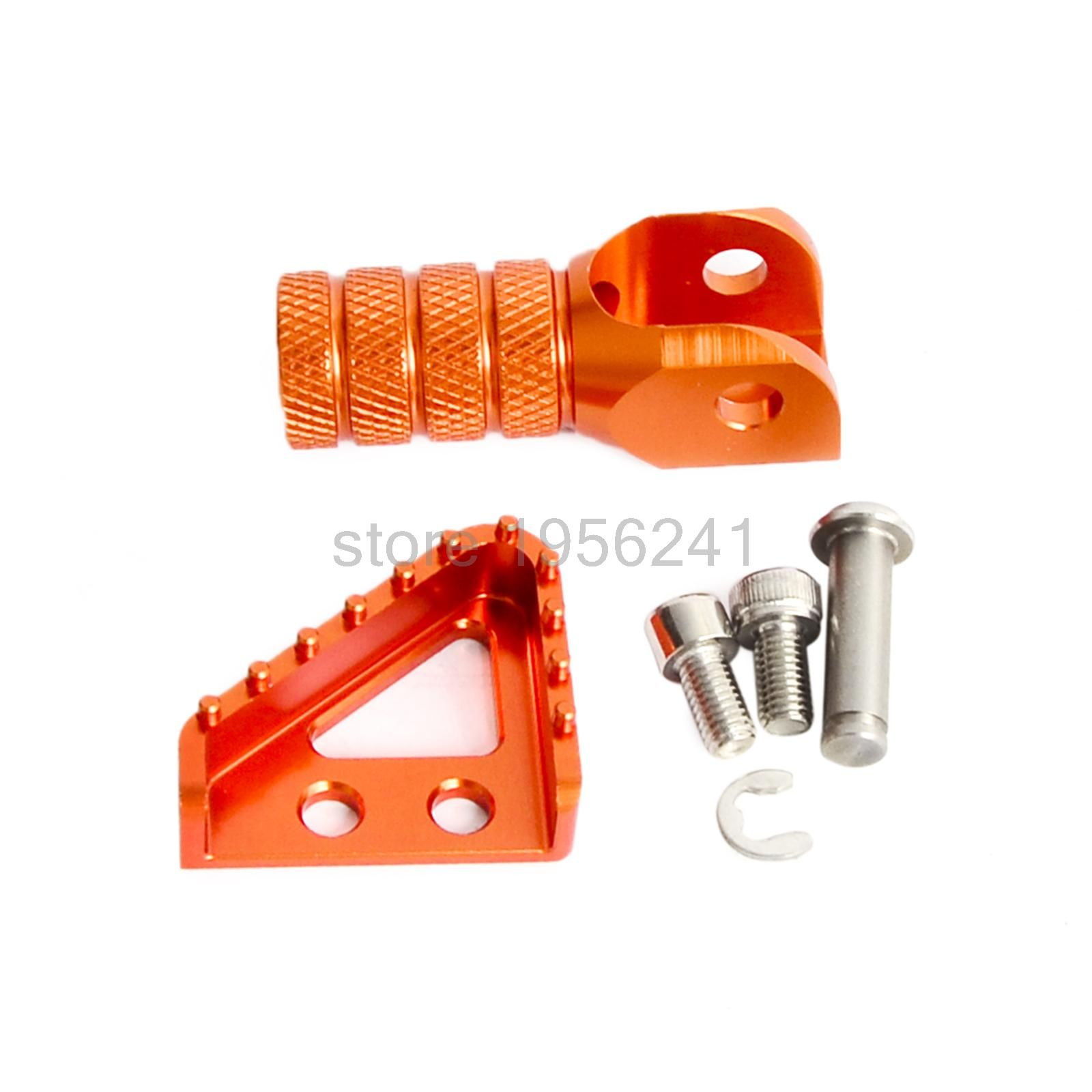 Billet Rear Brake Pedal Step Tips And Gear Shifter Lever Tip For KTM SX SX-F EXC EXC-F XCW XCF SMC SMR 50 65 85 500 560 660 690