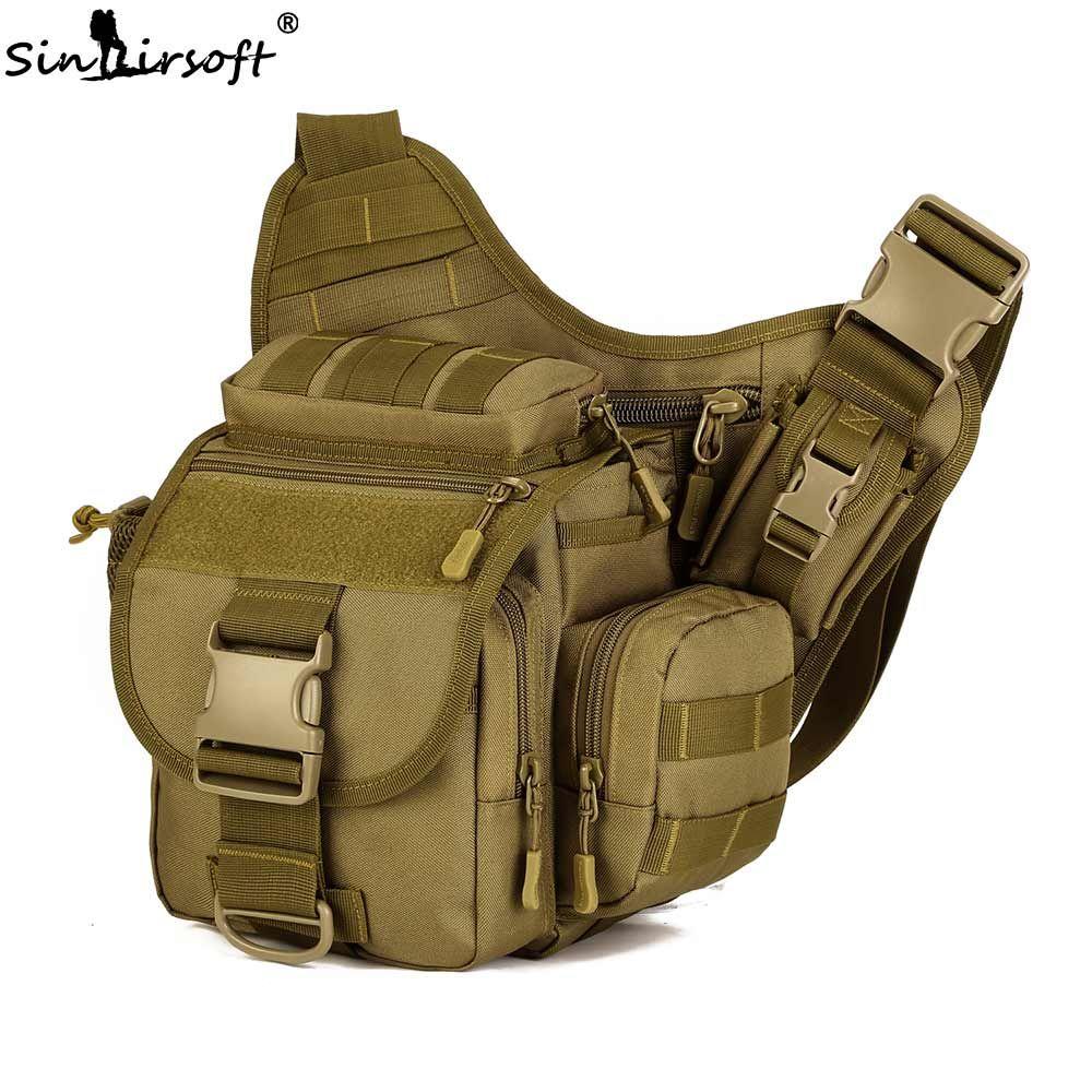 SINAIRSOFT Outdoor Sport Climbing Hiking Bags Camera bag Multifunctional Men Nylon Messenger Bag Military Tactical Camping bags