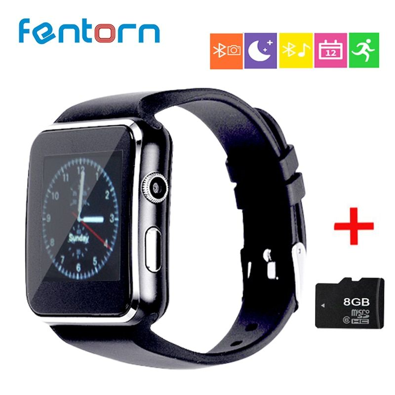 FENTORN smart watches X6 wearable devices passometer watch phone wearable devices <font><b>celular</b></font> Support SIM TF Card Camera pk Q18 DZ09