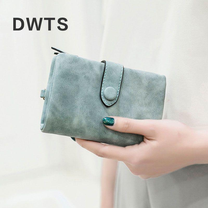 Portefeuille femme cuir portefeuille mat portefeuille court Cartera Mujer mignon Tri-pli multi-carte femme portefeuille