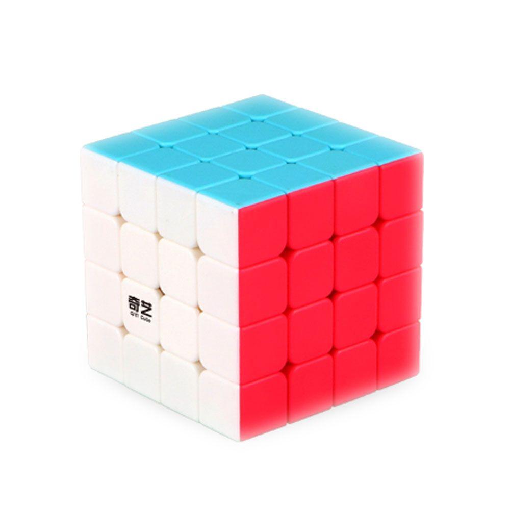 4*4*4 Sin Pegatinas Velocidad Cubo Neo Clásico Juguete Ruleta Adecuado Cuadrados Rompecabezas Cubo Mágico Educacional para Regalo de Navidad para niños