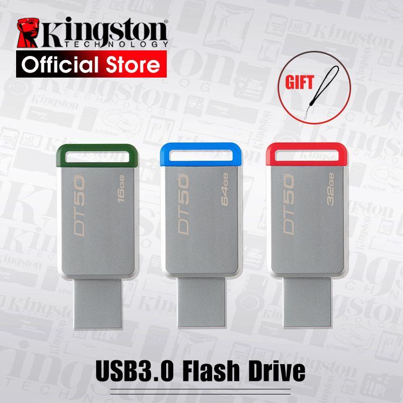 Kingston Numérique DT50 USB 3.0 USB Flash Drive 16 gb Pendrive 128 gb 32 gb Pendrive 64 16GBGB Stylo En Métal lecteurs 8 gb Mémoire U Bâton