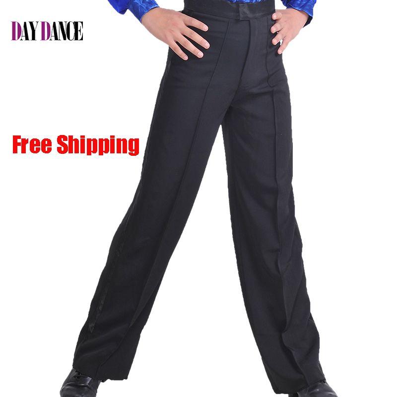 Negro Profesional mens Pantalones Muchachos Spandex Pantalones De Baile De Salón de Baile Latino
