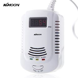 LCD Plug-In Combustible Gas Detector LPG LNG Coal Natural Gas Leak Alarm Voice Warning For Home Kitchen Security Alarm Sensor