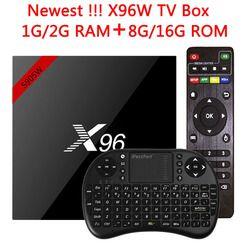 D'origine X96 X96W Smart TV Box Media Player Android TV Box 7.1 Amlogic S905W CPU 1G/8G 2G/16G 2.4 GHz WiFi HD 4 K Ensemble top Box