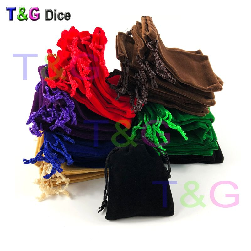 High Quality 10pcs/set 10 Colors Board game Dice and Cards Bags for Jewelry Packing or Dice-collectong Drawstring Pouches