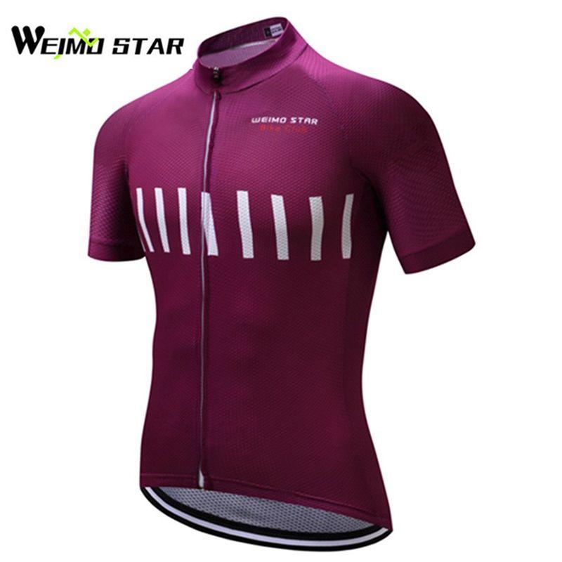 WEIMOSTAR Männer Radfahren Jersey Kurzarm Atmungs Ropa Ciclismo Außen Polyester Sommer Sportwear Kleidung S-3XL Quick-dry
