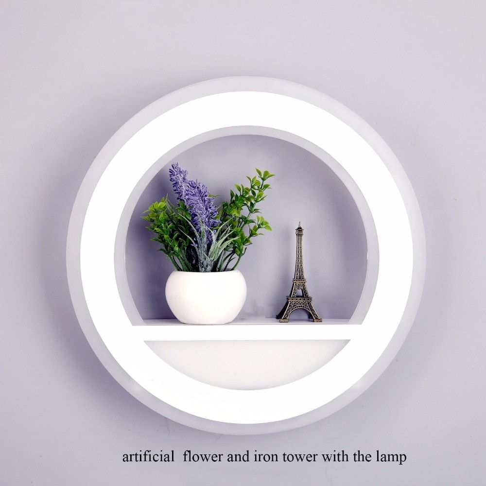 29W Wall Lamp Dimmable Light with Flower Tower AC220V Segment 2.4G RF Remote Control LED Wall Light for Bedroom Living Room
