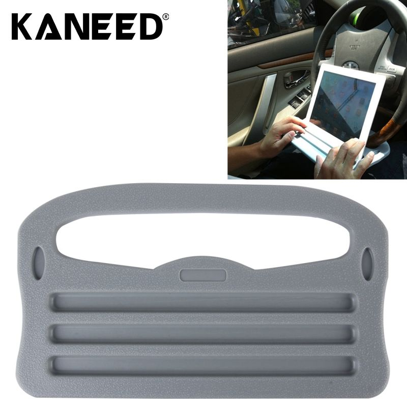 Car Holder for iPad Holder Vehicle Portable Desk Steering Wheel Multi-use Tray Stand Car Food Eating Table  Grey
