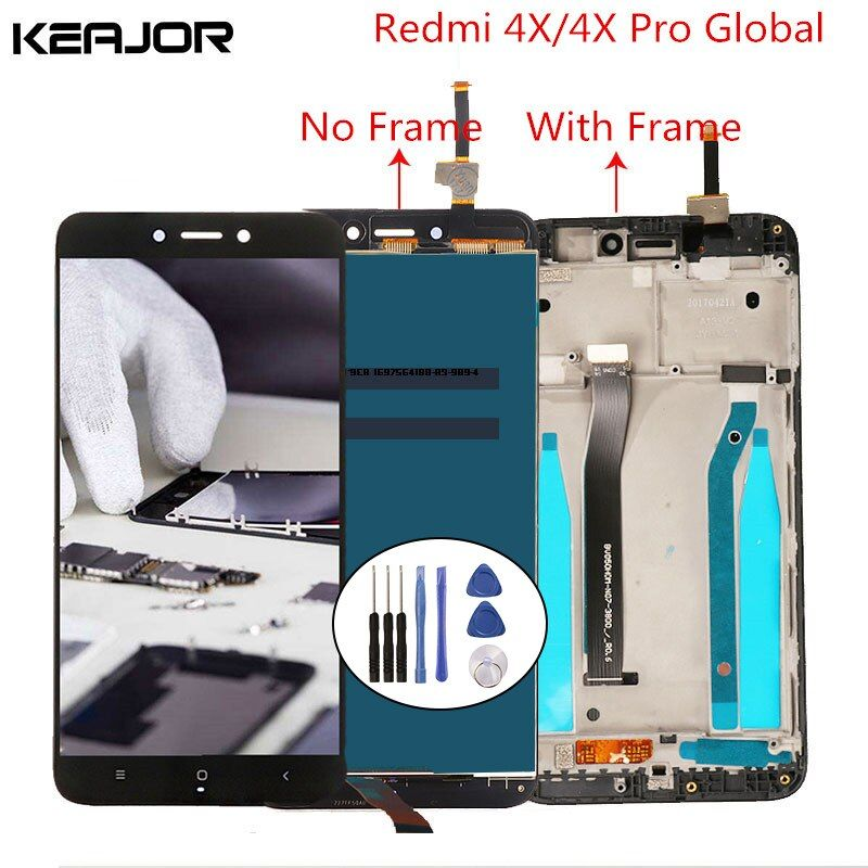 For Xiaomi Redmi 4X LCD Screen <font><b>Tested</b></font> Lcd Display+ Touch Screen with Frame Digitizer Replacement for Xiaomi Redmi 4X Pro 5.0''